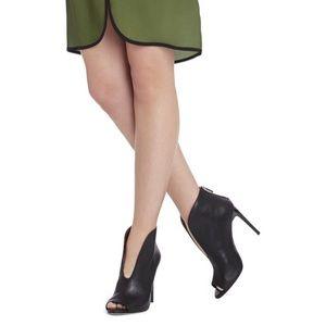 🍂 BCBGMAXAZRIA Peep-Toe High-Heel Ankle Booties